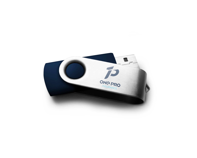 USB drive blue