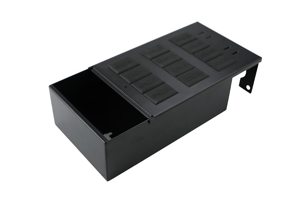 GOP BOX 12Way – 2 x 32 mm Gland Entry with Excel LJ6C Blank – Black Rubber (12)